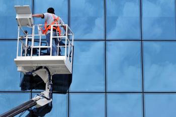 Hoogwerker glasbewassing